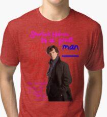 BBC Sherlock: Lestrade Quote. Tri-blend T-Shirt