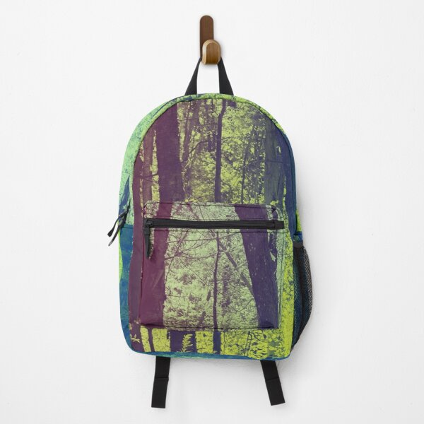 Rainbow duotone tall forest trees Backpack