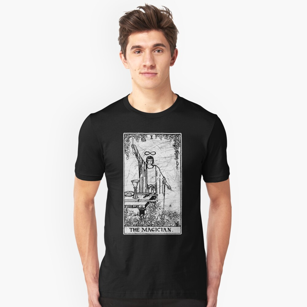 The Magician Tarot Card - Major Arcana - fortune telling - occult Unisex T-Shirt Front