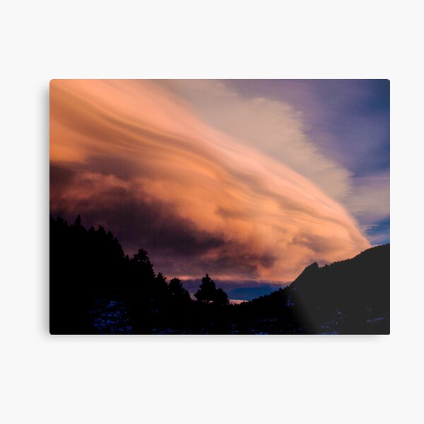 Flight of The Sunset Clouds Metal Print