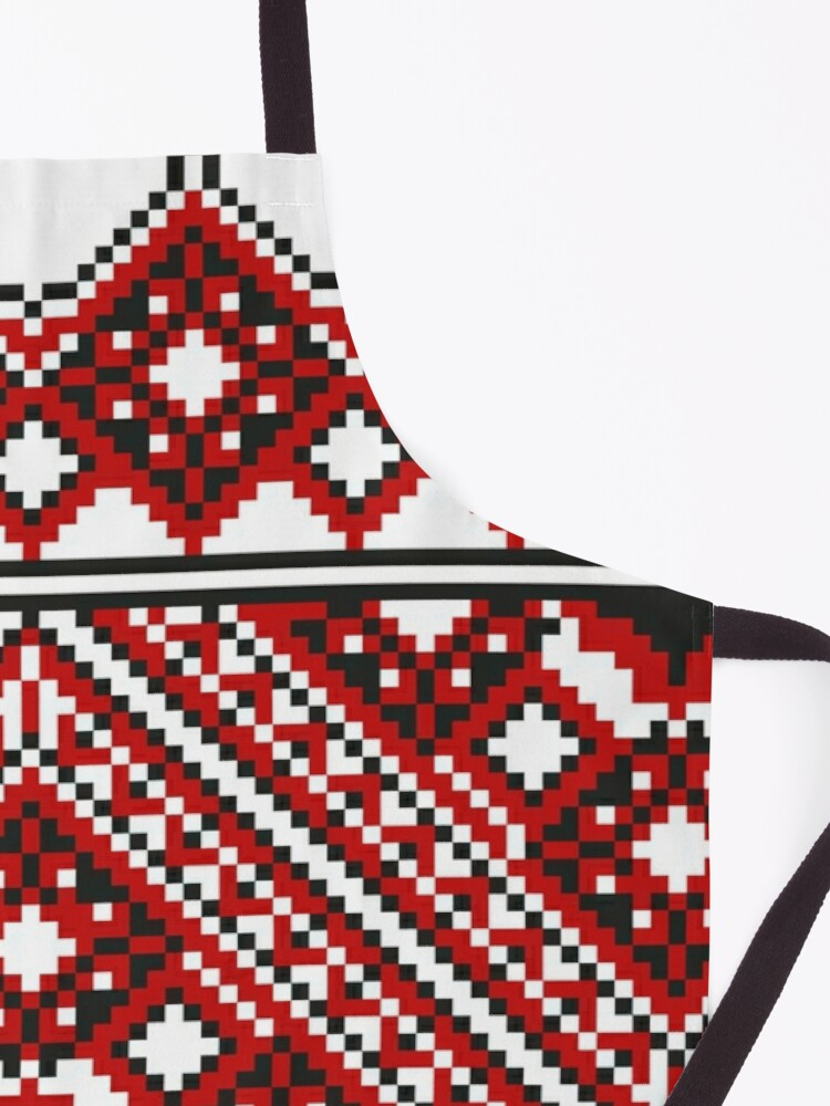 Alternate view of #Ukrainian #Embroidery, #CrossStitch, #Pattern Apron