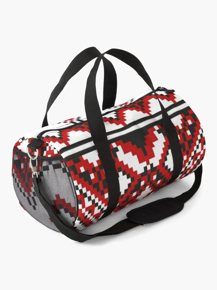 Alternate view of #Ukrainian #Embroidery, #CrossStitch, #Pattern Duffle Bag