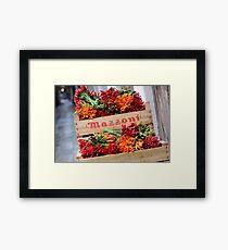 Peppers in Venice Framed Print