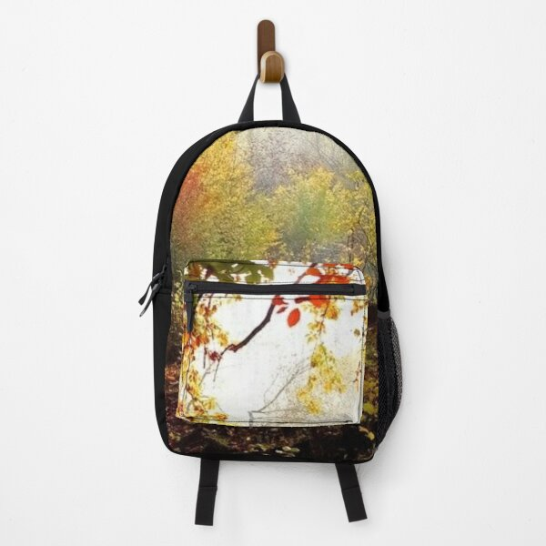 Autumn forest colorful autumn leaves photography Backpack