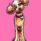 Girly Apricot Poodle Pretty in Pink by offleashart