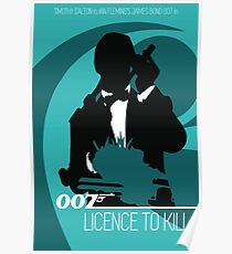 James Bond - Licence to kill Poster