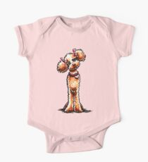 Girly Apricot Poodle Kids Clothes