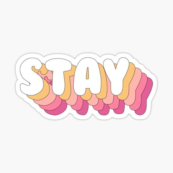 STRAY KIDS - Stay Pink Quote Text PINK PEACH Pegatina