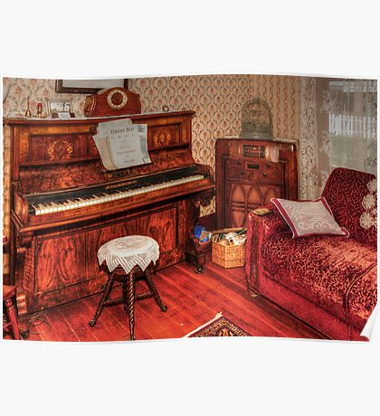 Vintage Piano Room Poster
