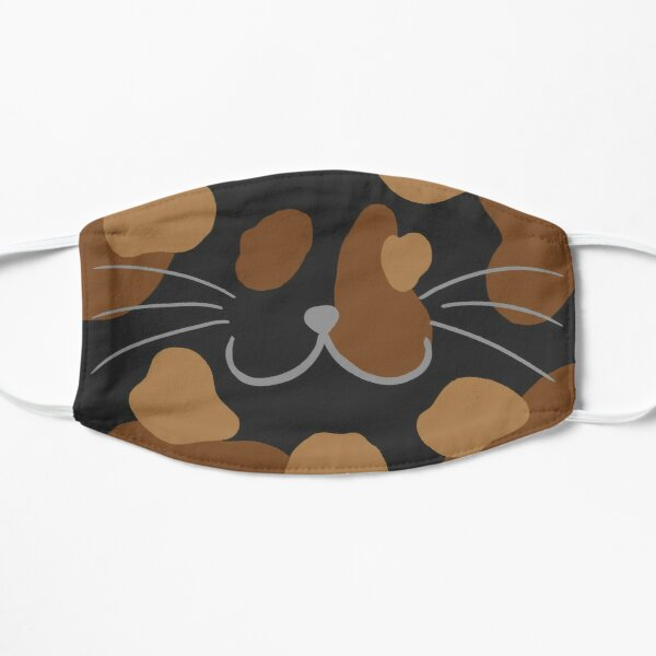 Tortoiseshell Cat Mouth Flat Mask