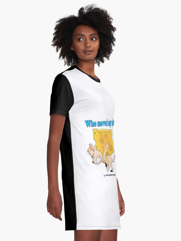 Alternate view of Who Moved My Cheese? Graphic T-Shirt Dress