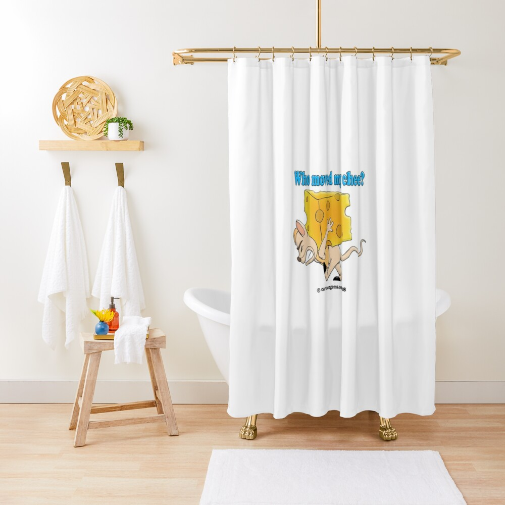 Who Moved My Cheese? Shower Curtain