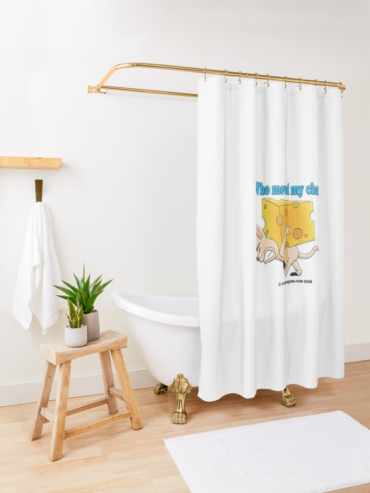 Alternate view of Who Moved My Cheese? Shower Curtain