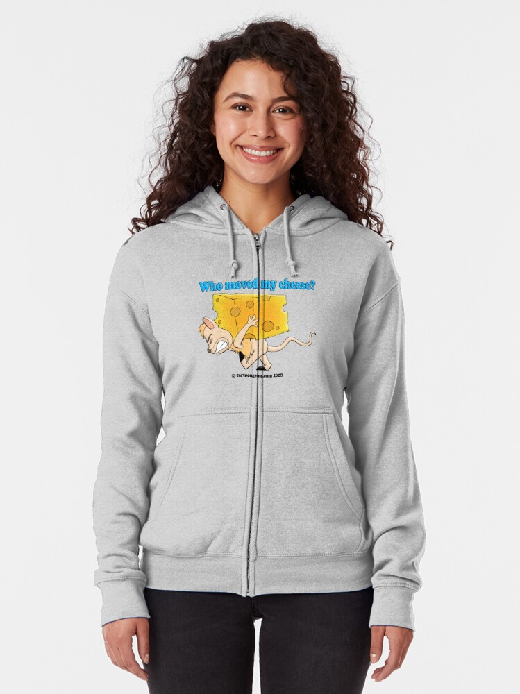 Alternate view of Who Moved My Cheese? Zipped Hoodie