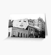 Marilyn Monroe Mural, Washington, D.C. Greeting Card