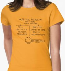 """""""Sexual Assault - The Crime With Options"""" T-Shirt"""