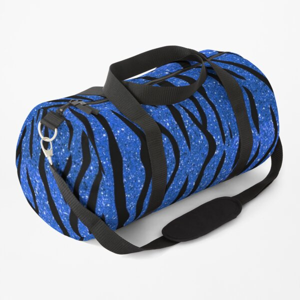 Tiger Glitter Blue Duffle Bag
