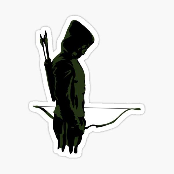 Green Archer with Arrow Sticker