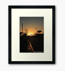 Harbourtown Sunrise Framed Print