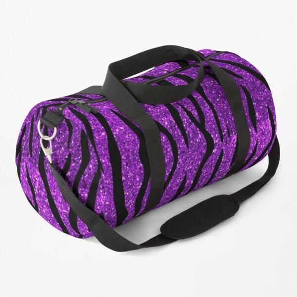 Tiger Glitter Purple Duffle Bag
