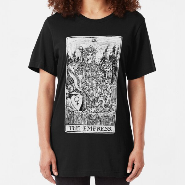 The Empress Tarot Card - Major Arcana - fortune telling - occult Slim Fit T-Shirt
