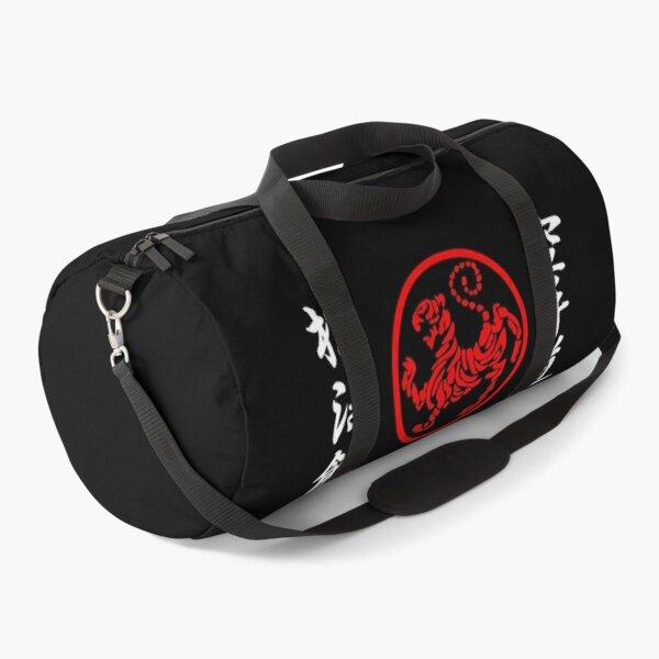 Shotokan Symbol and Kanji on the sides white text Duffle Bag