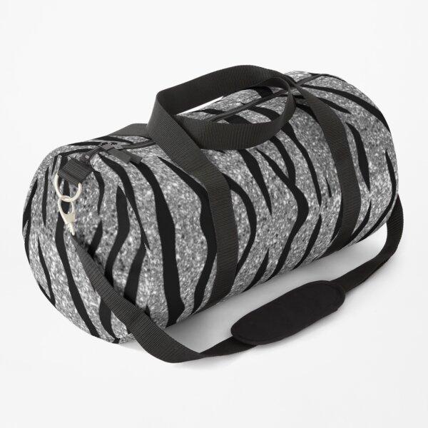 Tiger Glitter Silver Duffle Bag