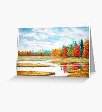 Old Forge Autumn Greeting Card