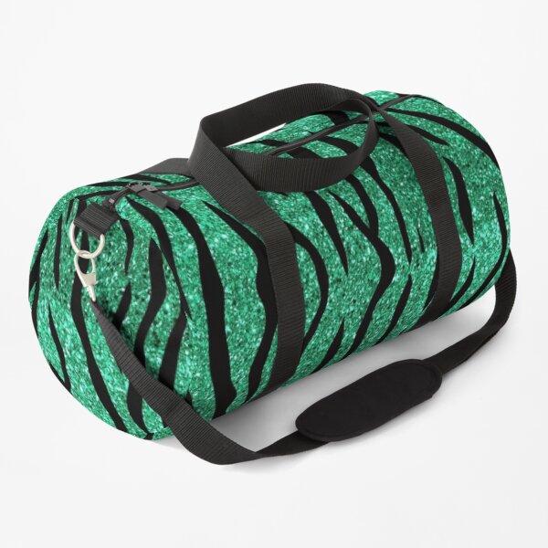 Tiger Glitter Teal Duffle Bag