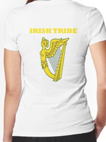 IRISH TRIBE IRELAND HARP Women's Fitted V-Neck T-Shirt