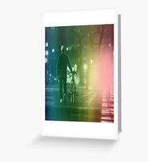 Lonely Town Rainbow Greeting Card