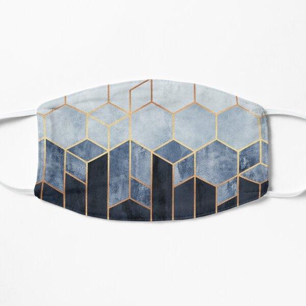 Soft Blue Hexagons Mask
