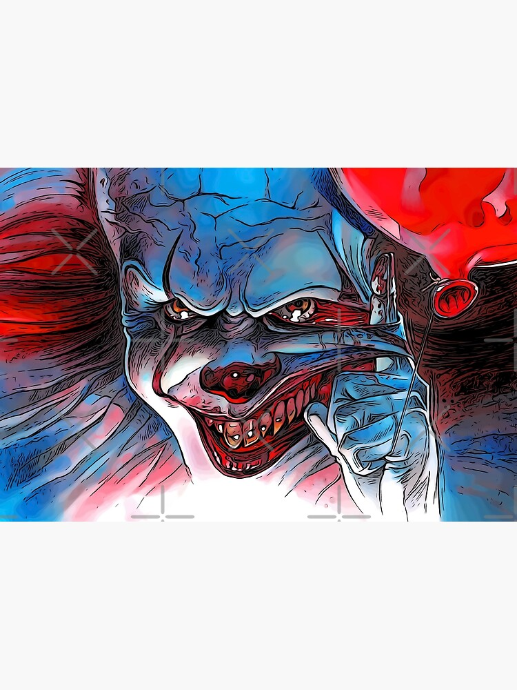 Scary Horror Clown Face Mask by alessiofano