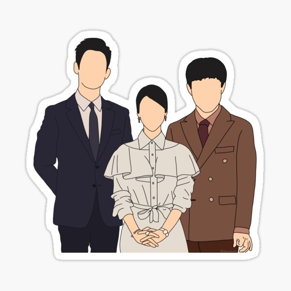 It's Okay to Not Be Okay family portrait Sticker