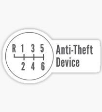 Manual Transmission: Anti-Theft Device Sticker