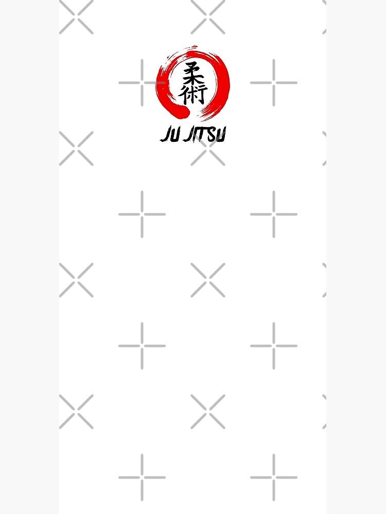 JuJitsu Kanji and red brush circle by DCornel