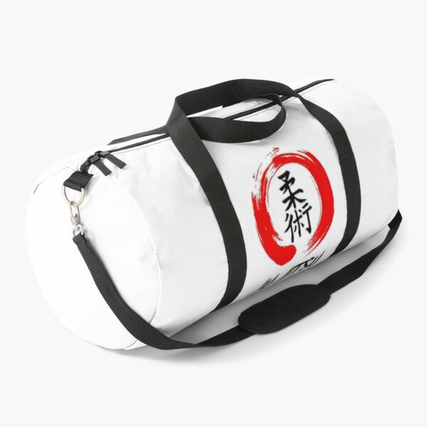 JuJitsu Kanji and red brush circle Duffle Bag