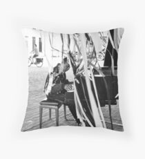 Pianist & Cyclist Throw Pillow