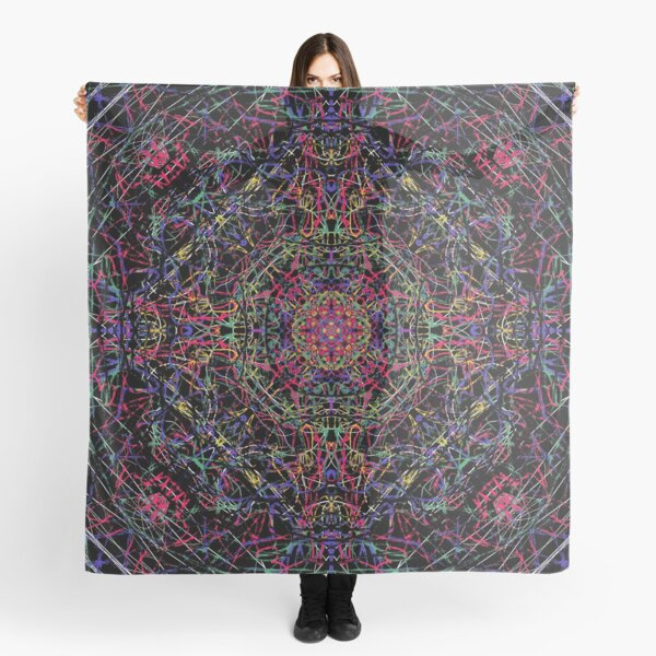 Neon black radial symmetry Scarf