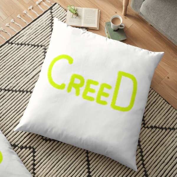 Creed text Floor Pillow
