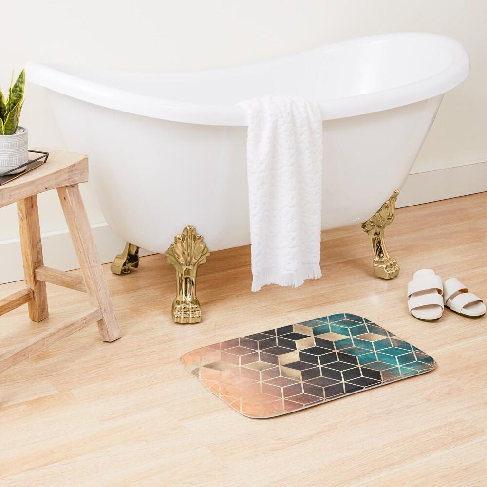 Ombre Dream Cubes Bath Mat