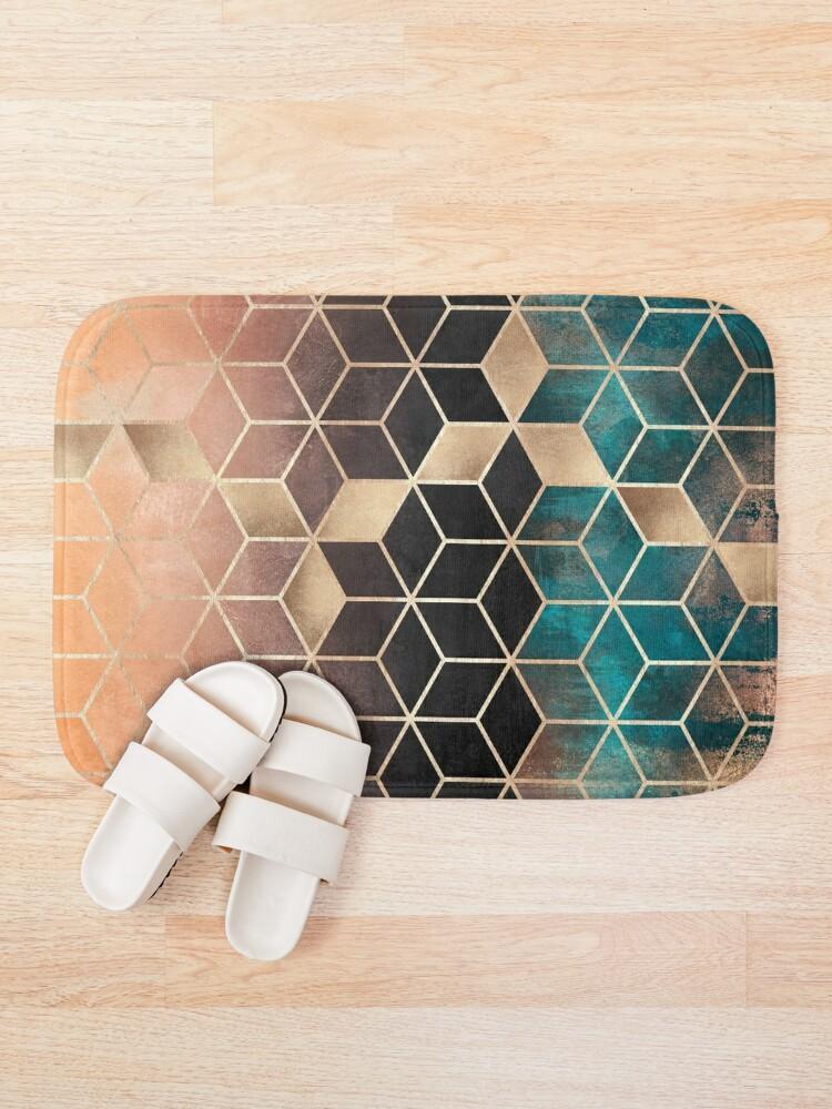 Alternate view of Ombre Dream Cubes Bath Mat