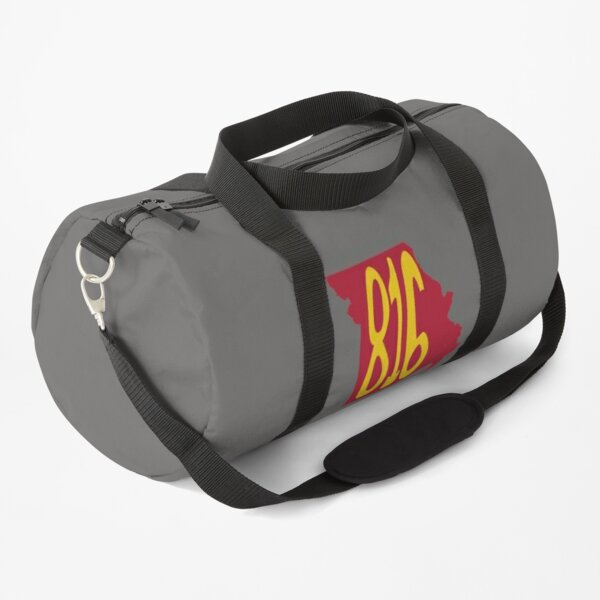 Hand Drawn Missouri State 816 Area Code Red Gold Duffle Bag