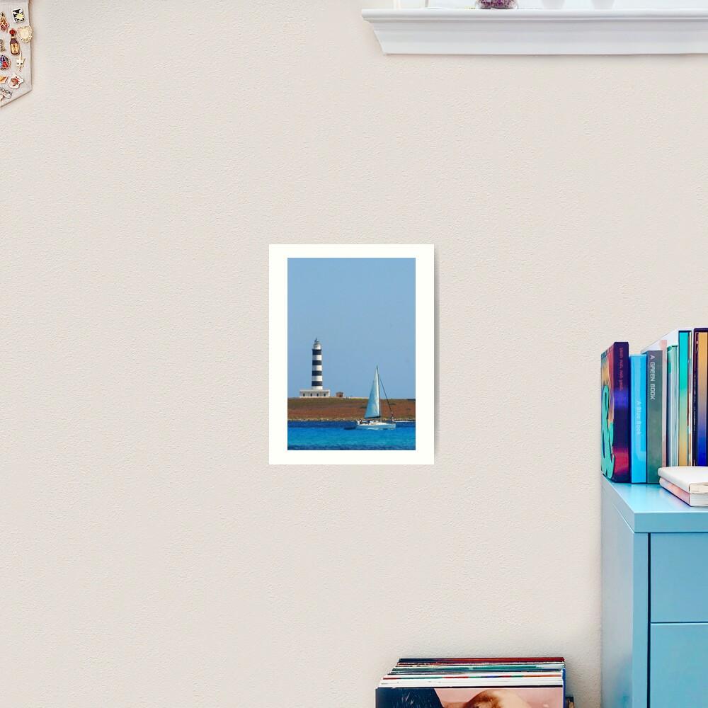 Lighthouse & Boat, Menorca Art Print