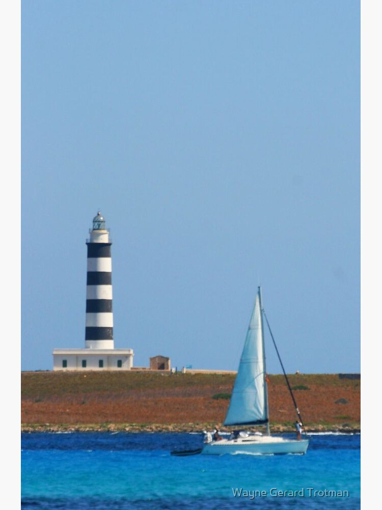 Lighthouse & Boat, Menorca by redmoondragon