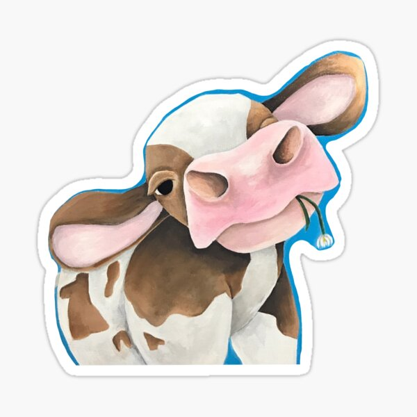Painted cow Sticker