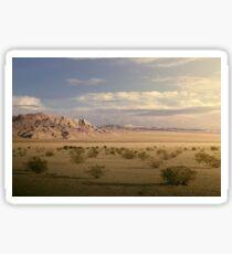 The Mojave Desert at Sunset Sticker