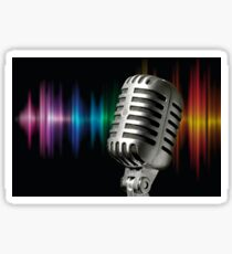 Retro Microphone Sticker