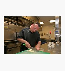 Chef prepares boiled eggs at Tapas Revolution Photographic Print