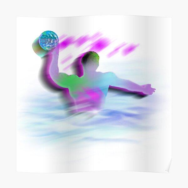 Waterpolo color design, Water Polo, Swimming, Swim Poster